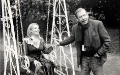 Václav Havel s manželkou Dagmar během natáčení filmu Odcházení 2010  Fot. Oldřich Škácha Photographers, Film, People, Movie, Films, Film Stock, Cinema, Movies, People Illustration