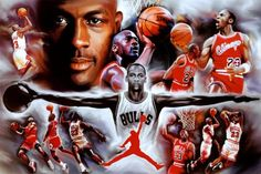 Michael Jordan Wings Collage Vintage Sports Poster Print Prints at AllPosters.com