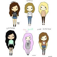 cartoon girls - Google Search