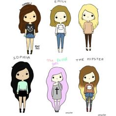 cartoon girls - Google Search
