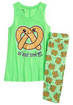 Pretzel Capri Legging Pajama Set