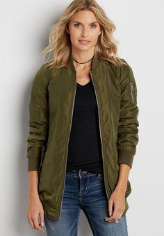 71fd04628a6 long length satin bomber jacket (original price