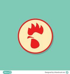 Chicken Icon, Chicken Logo, Chicken Art, Logo Minimalista, Restaurant Logo Design, Rooster Art, Kiosk Design, Food Branding, Type Setting