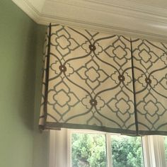 Love our clients' new breakfast room valances! @kravetinc #installationday #lizwilliamsinteriors