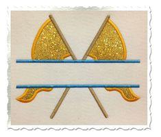 Split Color Guard Flags Applique Machine Embroidery Design - 4 Sizes via Etsy
