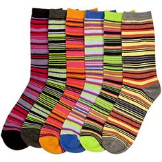 Women`s (12 Pairs) Crew Socks - Many Designs Available ♥