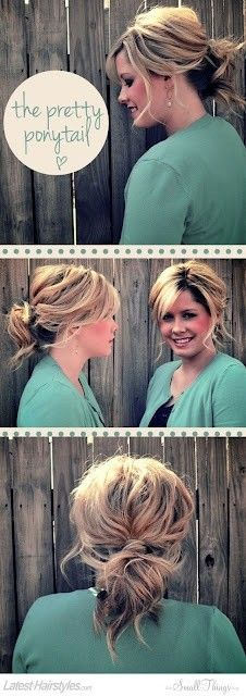 Need to learn how to make my hair this cute.