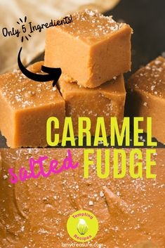 An easy salted caramel fudge recipe using only 5 simple ingredients. This creamy and crumbly fudge is made the traditional way and it literally MELTS in your mouth. Have it as an indulgent treat or make a batch especially for gift giving Single Serve Desserts, Desserts For A Crowd, Winter Desserts, Great Desserts, Delicious Desserts, Hot Fudge Cake, Hot Chocolate Fudge, Oreo Fudge, Chocolate Tarts