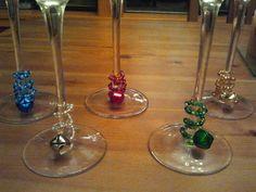 Jingle bell wine charms
