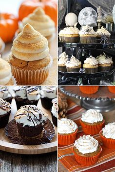 From caramel-glazed to s'more-flavored, here are 16 pumpkin cupcake recipes that will last you throughout the Fall season and beyond. We hope you're not sick of pumpkin yet because there's a lot of it heading your way. Start baking!