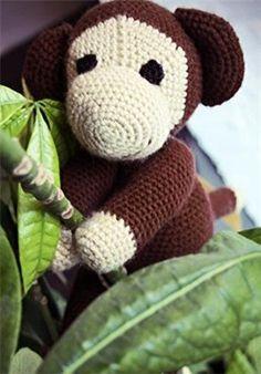 Gehaakte bruine aap | Knuffels-breien-en-haken.jouwweb.nl