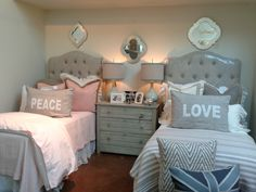 Down-to-earth teen girl bedrooms transformation for a sweet teen girl room feel, image reference 3019042433 Teenage Girl Bed, Twin Girl Bedrooms, Shared Bedrooms, Girls Twin Bed, Bedroom Design, Twin Beds For Boys, Cute Bedroom Ideas, Boy Room