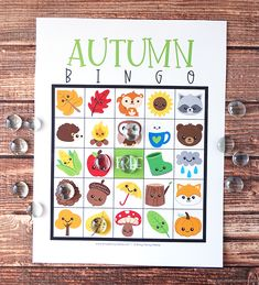 Free Printable Autumn Bingo #autumn #freeprintable #printable #fall #freebies Free Printable Art, Printable Crafts, Free Printables, Bingo For Kids, Free Cards, Autumn Crafts, Bingo Cards, Blank Cards, Art For Kids