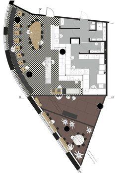 Кафе с пекарней во Вроцлаве Cafe Deli, Pergola, Floor Plans, Interior Design, Interior Ideas, Layout, How To Plan, Architecture, Projects