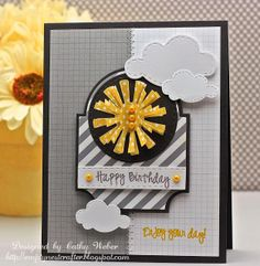 Empty Nest Crafter: Fusion Card Challenge #2 - A Sunny Happy Birthday
