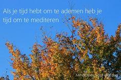 Als je kunt ademen kun je ook mediteren. Wees je gewoon bewust van je ademhaling