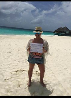 Honeymooning couple show their support in the maldives #ochwedding #spreadthelove