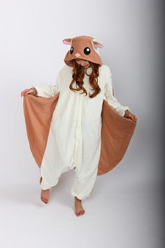 Flying Squirrel Onesies Pajamas Unisex Adult Pajamas Cosplay Costume Animal…