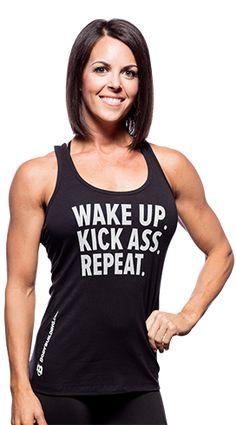 c512b29b10223 Bodybuilding.com Clothing Core Series Women s Wake Up Kick Ass Repeat Tank  at Bodybuilding.com - Best Prices on Women s Wake Up Kick Ass Repeat Tank!