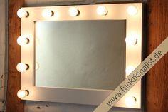 Theaterspiegel,Hollywoodspiegel, Schminkspiegel, Visagistenspiegel, mit Farbwahl in Möbel & Wohnen, Beleuchtung, Sonstige | eBay