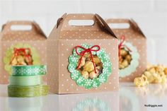 a Peek Packs (Washi Tape Christmas Book) Sneak a peek packs - A featured project from the new book Washi Tape Christmas Clear Christmas Ornaments, Christmas Gift Decorations, Christmas Gift Wrapping, Christmas Books, A Christmas Story, Christmas Crafts, Washi Tape, Tapas, Gift Wraping