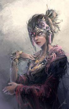 Masked Lady by JasonTN