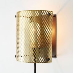 Perforated Metal Sconce | West Elm // wall lamp