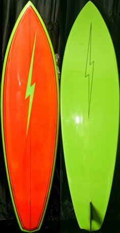 Surfboard Skateboard, Surfboard Shapes, Wooden Surfboard, Lightning Bolt Logo, Vintage Surfboards, Surf Boards, Surf Shack, Surf City, Surfs Up