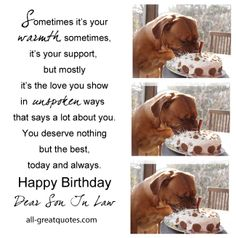 Soninlaw Happybirthday Birthdaycards SEE ALL