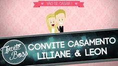 Convite Animado Casamento (Personagem) - Liliane e Leon