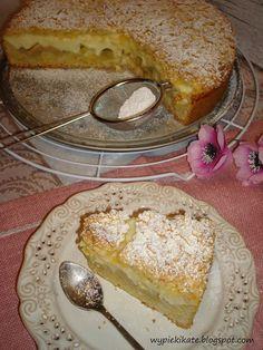 Wypieki Kate: Kruche ciasto z rabarbarem i waniliowym budyniem