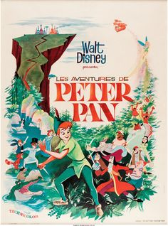 Peter Pan French Theatrical Poster (Walt Disney, 1953)