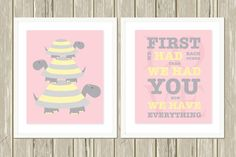 Baby girl nursery art, turtle nursery art, turtle art, First we had each other, quotes for baby, nursery quote art, custom colors by PicabooArtStudio, $17.99