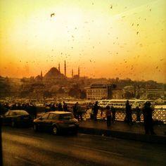 Istanbul, Galata Bridge is a bridge that spans the Golden Horn in Istanbul, Turkey. #galata bridge #istanbul #sunset