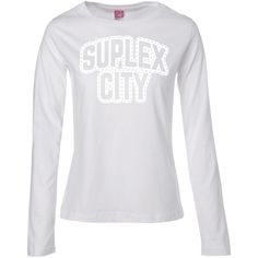 Brock Lesnar Suplex City Muscle T-Shirt-01 Ladies' Long Sleeve Cotton TShirt