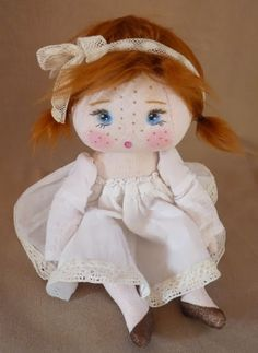 The Round the Fireflies ♡ Raggy Dolls, Crochet Dolls, Little Girl Toys, Toys For Girls, Fabric Dolls, Paper Dolls, Homemade Dolls, Doll Sewing Patterns, Waldorf Dolls