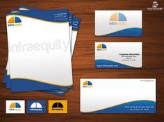 Branding / Design . Infraequity business Hire me on / designcrowd.com