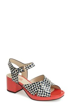 Clarks orla kiely Clarks® x  Orla Kiely 'Blanche' Leather Sandal (Women) available at #Nordstrom