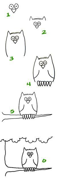 Hoe teken je een uil?