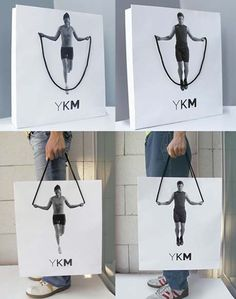 Mídia Alternativa - YKM  Creative Shopping Bag
