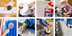 Looking for some super easy toddler activities? Check out this list of 40+ crazy easy toddler activities - no prep, lots of fun, and perfect for toddlers!