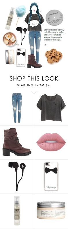 """""""Hang the Dj 🍪"""" by violenceinsilence ❤ liked on Polyvore featuring H&M, Shellys, Lime Crime, Skullcandy, Casetify and Le Labo"""