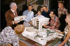 Frank Lloyd Wright and Students, Taliesin East