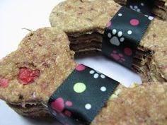 Cranberry Oatmeal Dog Biscuits