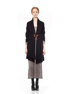Long cardi or a scarf tied and belted in an interesting way?