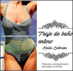 Traje de Baño Entero a Crochet / Paso a paso | Crochet y Dos agujas - Patrones de tejido