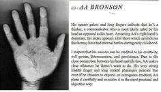 AA Bronson http://blog.markseltman.com/2014/04/08/remote-palmistry-a-challenge/