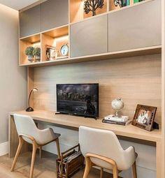 Home Office, Study Room Design, Design Minimalista, Corner Desk, Bedroom, Furniture, Home Decor, The Sims, Show