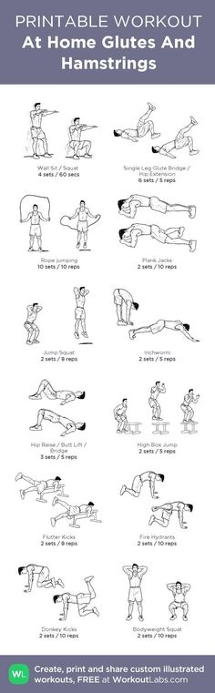 At Home Glutes And Hamstrings