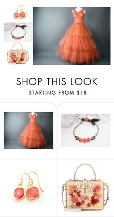 """""""simple & sweet - shades of coral"""" by keatley-designs ❤ liked on Polyvore featuring Dolce&Gabbana and vintage"""